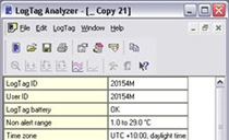 LogTag Analyser Software Screenshot